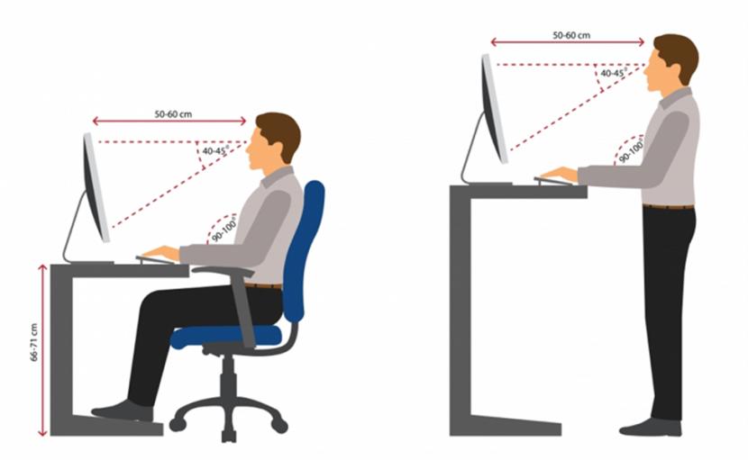 ergonomics - tư thế ngồi - đứng